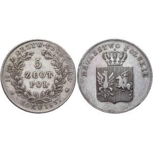 Russia - Poland 5 Zlotych 1831 KG Polish Uprising R