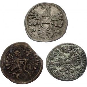 German States 3 x 1 Kreuzer 1657 - 1717
