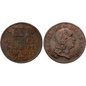 German States Hesse-Cassel 3 Heller 1726
