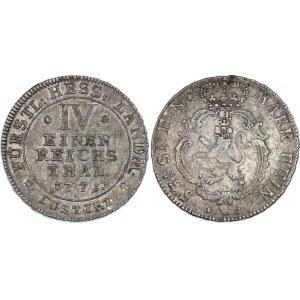 German States Hesse-Cassel 1/4 Thaler 1771 FU