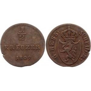 German States Hesse-Darmstadt 1/2 Kreuzer 1809