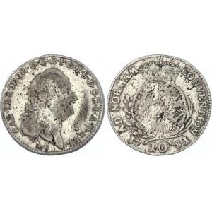 German States Pfalz 10 Kreuzer 1781 /0 AS RRR!