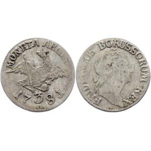 German States Prussia 3 Groschen 1781 A