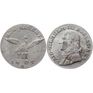 German States Prussia 3 Groschen 1805 A