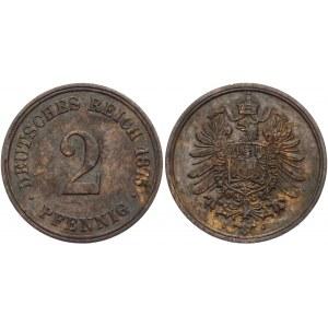 Germany - Empire 2 Pfennig 1875 J