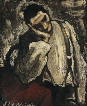 Stanisław ELESZKIEWICZ (1900-1963), Odpoczywający mężczyzna
