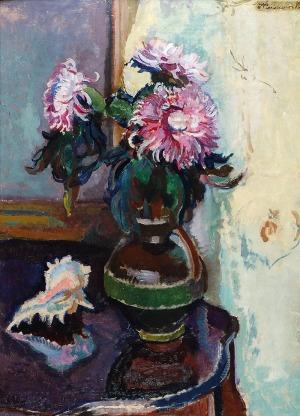 Ignacy PIEŃKOWSKI (1877-1948), Martwa natura z astrami