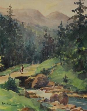 Henryk SAJDAK (1905-1995), Nad górskim potokiem - Dolina Strążyska