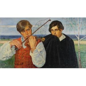Konstanty KIETLICZ-RAYSKI (1866-1924), Muzykanci, 1914-1915