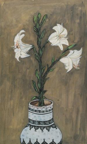 Danuta LESZCZYŃSKA-KLUZA (ur. 1926), Kwiaty, 1956