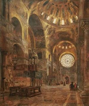 Gustav BAUERNFEIND (1848-1904), Wnętrze bazyliki św. Marka w Wenecji, 1881
