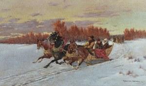 Aleksander MAKOWSKI (1869-1924), Na saniach