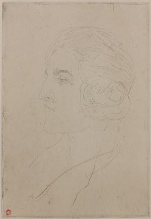 Konstanty BRANDEL (1880-1970), Adrienne, profil duży, stan I, ok. 1927