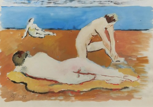 Roman SIELSKI (1903-1990), Kobiety na plaży, 1937