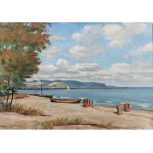 Stanisław ŻURAWSKI (1889-1976), Na plaży [Nad Bałtykiem koło Sopotu]