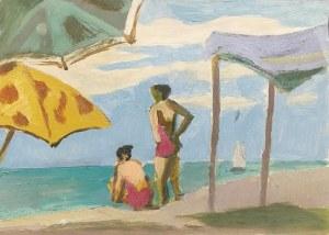 Roman SIELSKI (1903-1990), Pod plażowymi parasolami