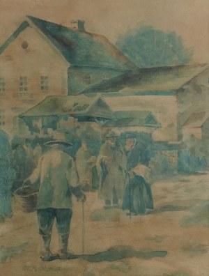 Stanisław MASŁOWSKI (1853-1926), Na rynku targowym