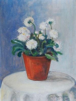 Irena NOWAKOWSKA-ACEDAŃSKA (1906-1983), Białe kwiaty w doniczce, 1924