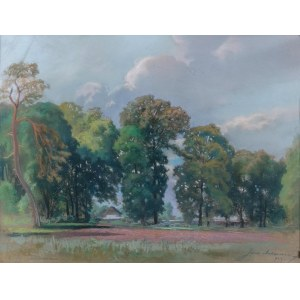 Juliusz MAKAREWICZ (1854-1936), W parku, 1923