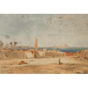 Eduard HILDEBRANDT (1817-1968), Igła Kleopatry w Aleksandrii