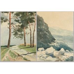 Henryk SAJDAK (1905-1995), Para obrazów: Pejzaże
