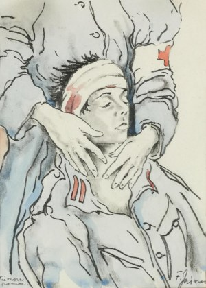 Franciszek JAŹWIECKI (1900-1946), Ranny Legionista - Pierwsza pomoc
