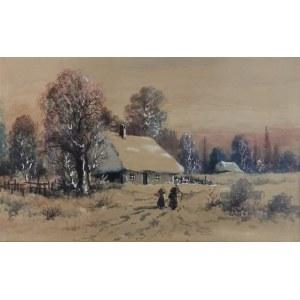 Artysta nieokreślony, XIX w.- w typie twórczości Seweryna BIESZCZADA (1852-1923), Powrót do domu