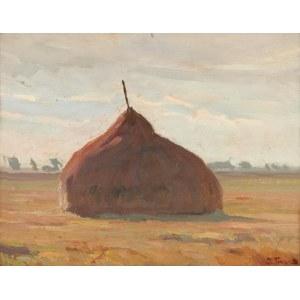 Iwan TRUSZ (1869-1940), Pejzaż ze stogiem