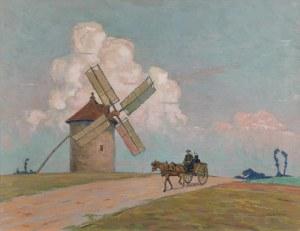 Ludwik CYLKOW (1877-1934), Mijając wiatrak, 1913
