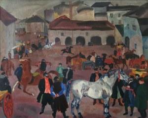 Rudolf Rudolfovich FRENTZ (1888-1956), Zakup konia, 1927