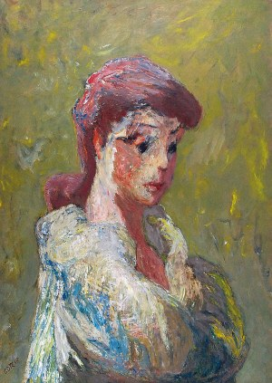 Henryk GOTLIB (1890-1966), Portret żony, lata 60. XX w.