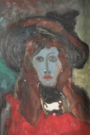 Stanisław ELESZKIEWICZ (1900-1963), Pani w kapeluszu