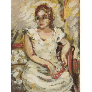 Nathan GUTMAN (1898-1987), Biała sukienka
