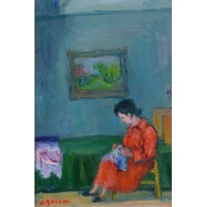 Jakub ZUCKER (1900-1981), Kobieta siedząca w fotelu