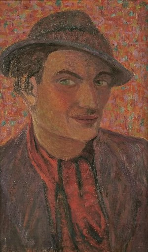 Sara MAJEROWICZ-GLIKSMANOWA / FAJTLOWICZ (1910-1942/1943?), Portret mężczyzny w kapeluszu