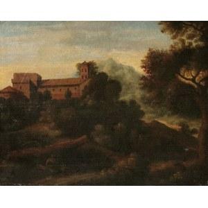 Malarz nieokreślony, XIX w., Pejzaż ze sztafażem [Idylla włoska]