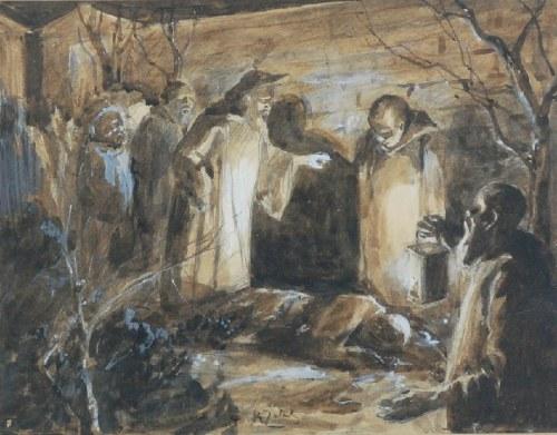 Kasper ŻELECHOWSKI (1863-1942), Pod murem klasztoru