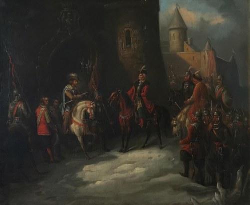 Walery Eliasz RADZIKOWSKI (1841-1905) - przypisywany, Scena historyczna z okresu wojny polsko- szwedzkiej, 1870