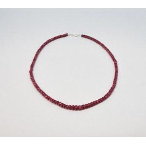 Naszyjnik z rubinów