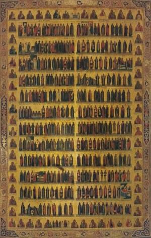 Ikona kalendarzowa - menaion - półroczna