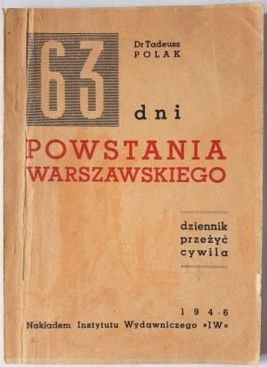 63 dni Powstania Warszawskiego : dziennik przeżyć cywila, 1946