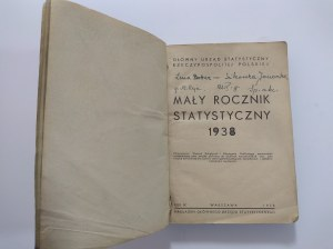 Mały Rocznik Statystyczny 1938 r.