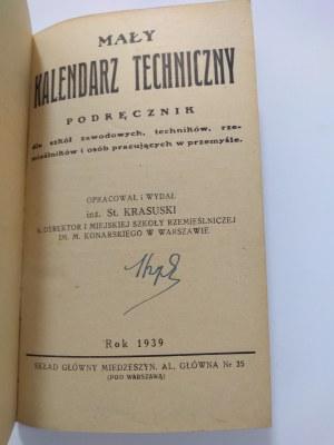 Krasuski, Mały Kalendarz Techniczny, 1939 r.