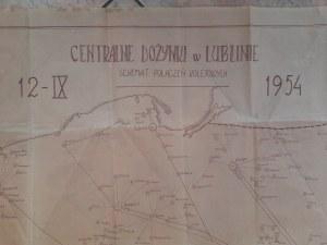 Schemat połączeń kolejowych. Centralne Dożynki w Lublinie 12.IX.1954 r.