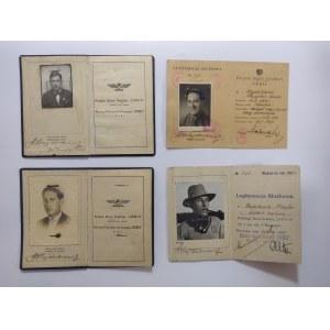 Polskie Biuro Podróży Orbis zestaw legitymacji służbowych z lat 1934-47