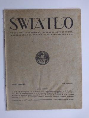 Światło. Rok 1 numer 1, 1920 r.