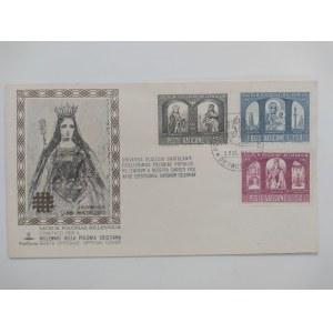 Citta del Vaticano. Koperta ze znaczkami wydanymi z okazji 1000 lecia Państwa Polskiego IV.