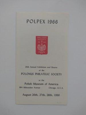 Informacja o 26 wystawie znaczków w Polskim Muzeum w Ameryce w Chicago w sierpniu 1966 r..