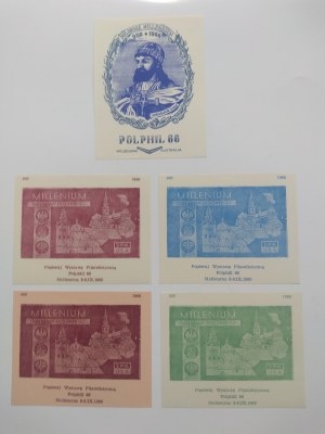 Nalepki popierające polską wystawę filatelistyczną w Melbourne 1966 r.