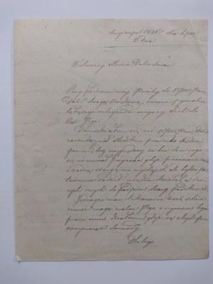 List do księdza Garbowskiego dziekana dekanatu mariampolskiego z dnia 2 VII 1835 r..